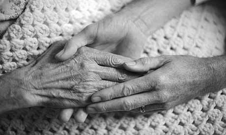 elderly caring hands