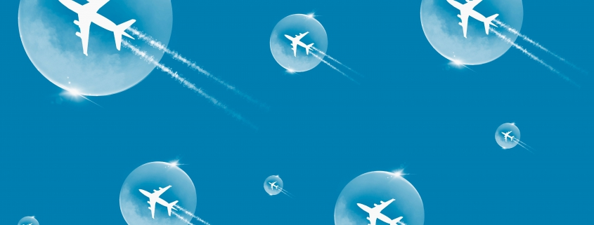 graphic image of airplanes in bubbles