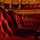empty theatre chair rows